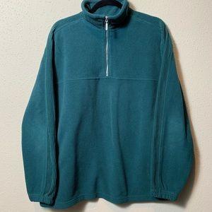ARCHITECT Men's Medium Blue 1/4 Zip Up Fleece